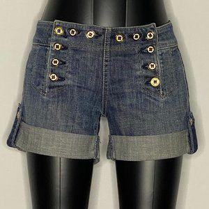 Juicy Couture Shorts Denim Shorts Back Pockets 24